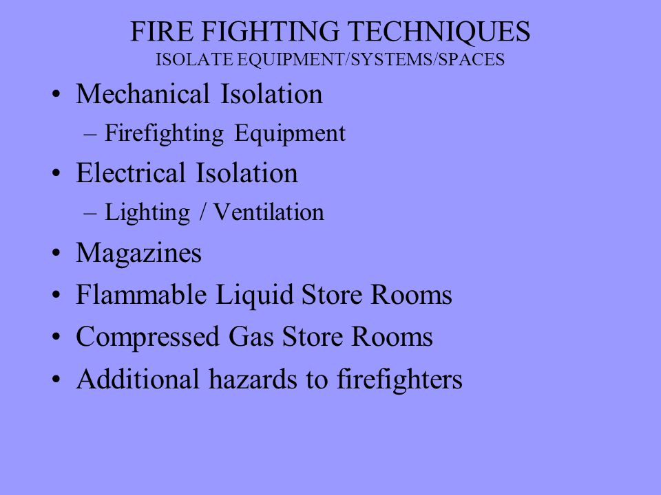 FIRE FIGHTING TECHNIQUES - ppt video online download