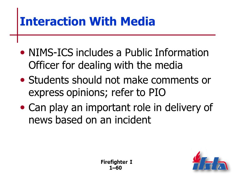 Interaction With Other Agencies