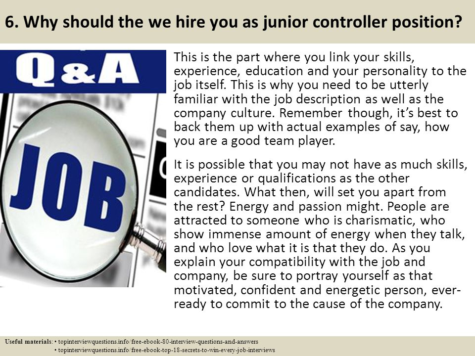 top 10 junior controller interview questions and answers ppt download