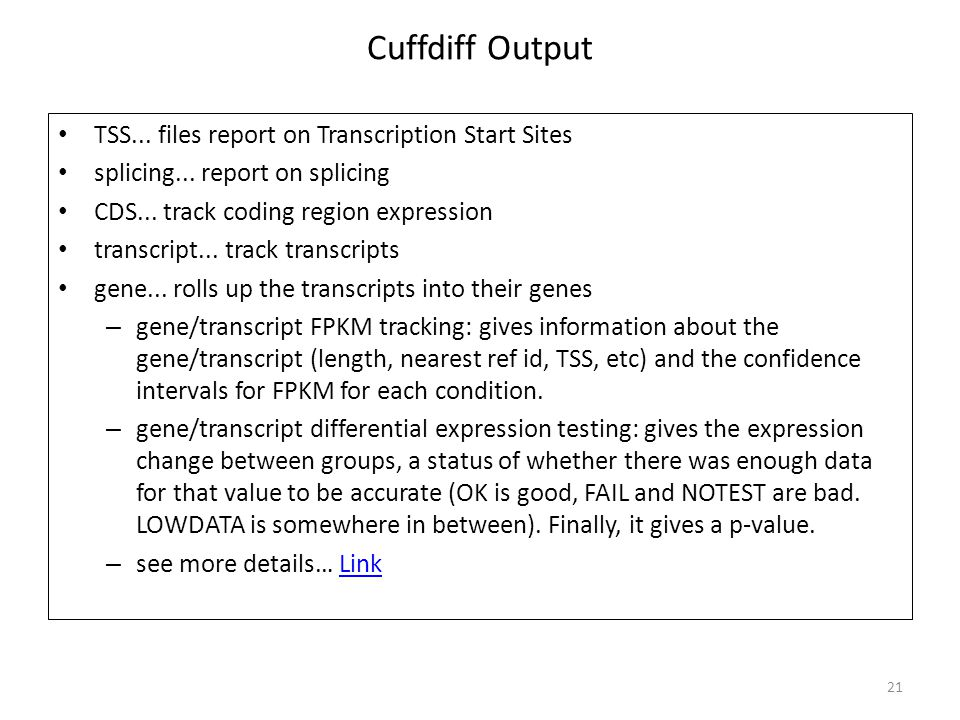 Cuffdiff Output TSS... files report on Transcription Start Sites