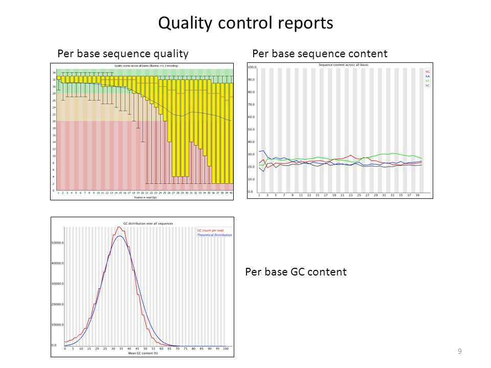 Quality control reports