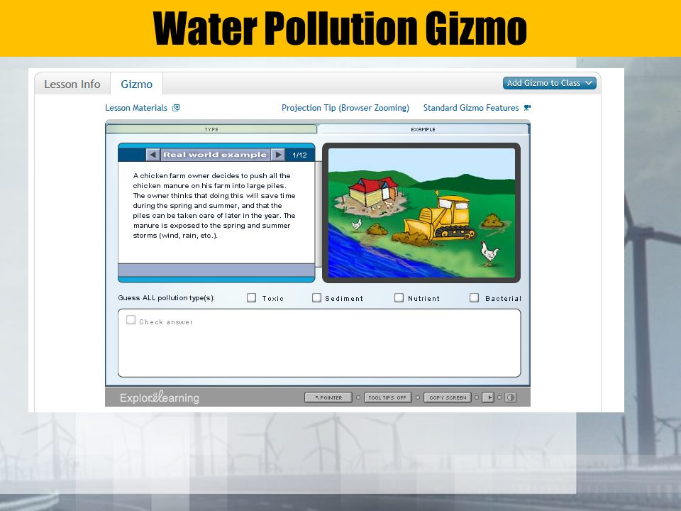 Water Pollution Gizmo
