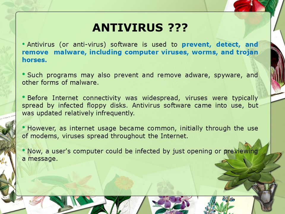 ANTIVIRUS AND ANTI-SPYWARE  - ppt video online download