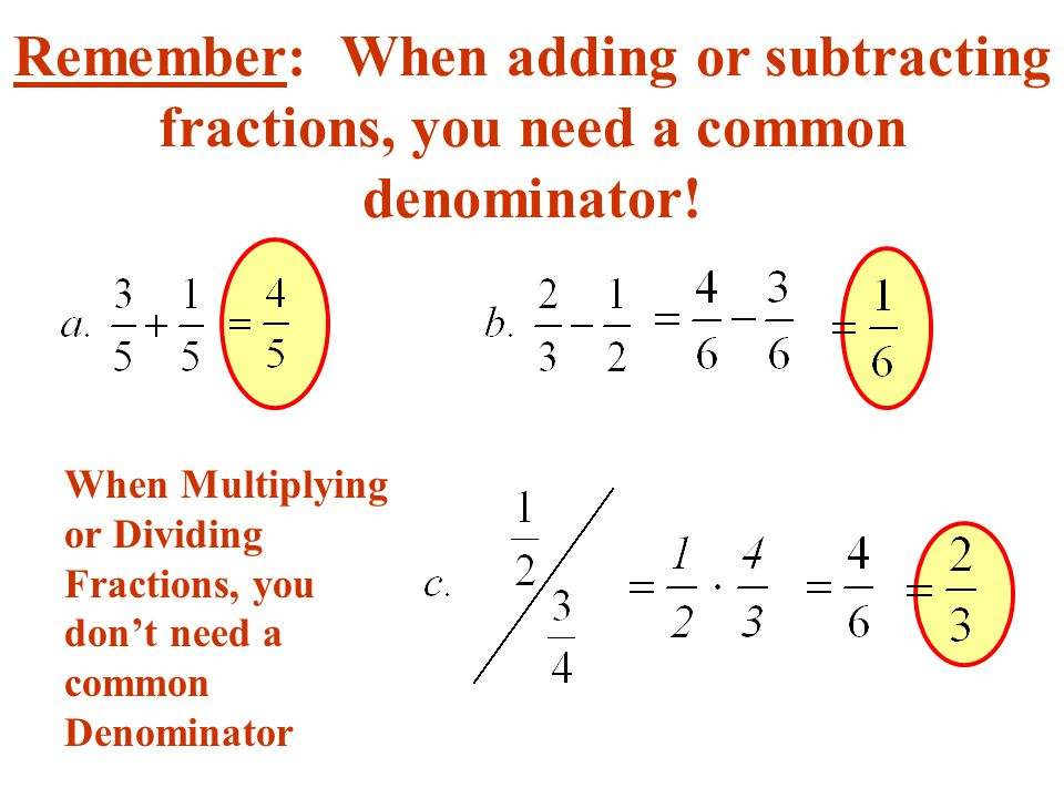 how to add common denominators