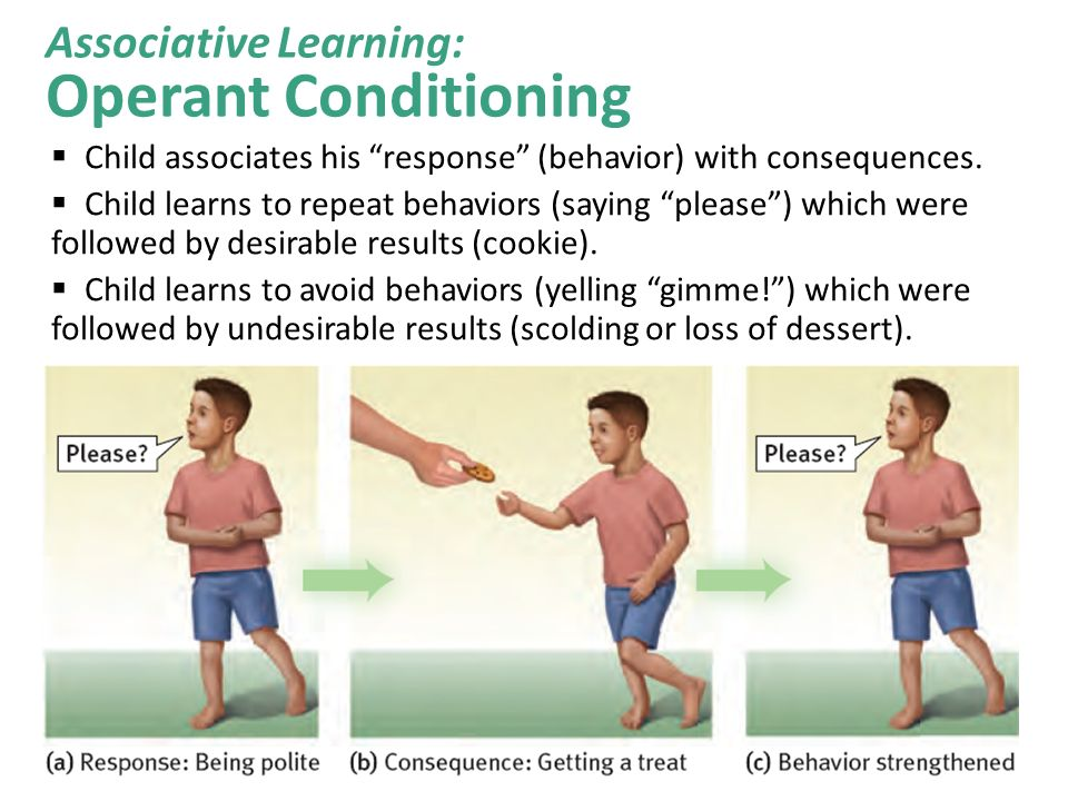 Examples of classical conditioning in infants.