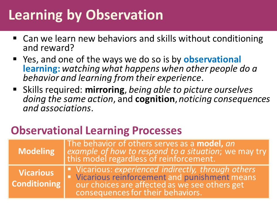 observational learning examples