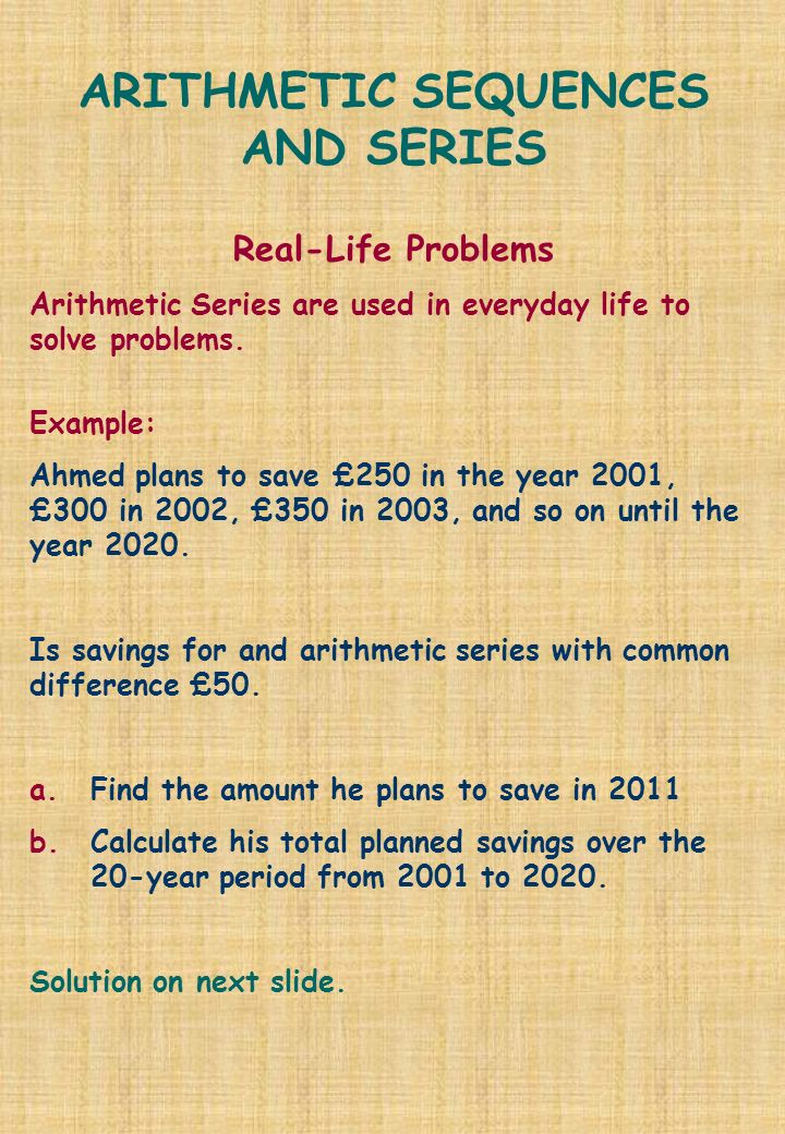 Sequences real life applications entire lesson youtube.