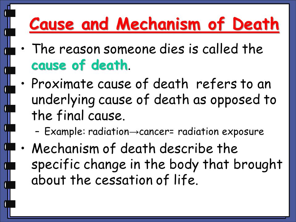 Death: Meaning, Manner, Mechanism, Cause, and Time - ppt