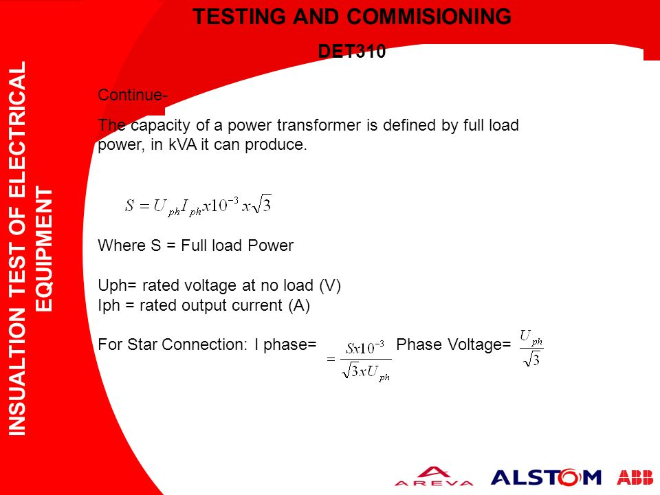 TESTING AND COMMISIONING - ppt video online download