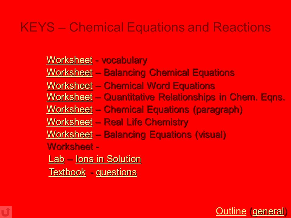 chemistry worksheets  with powerpoint presentations