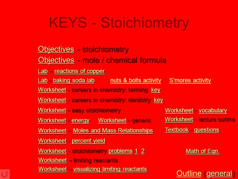 Chemistry Worksheets With Powerpoint Presentations Ppt Download. 24 Keys Stoichiometry Objectives. Worksheet. Worksheet Limiting Reactants Key At Clickcart.co