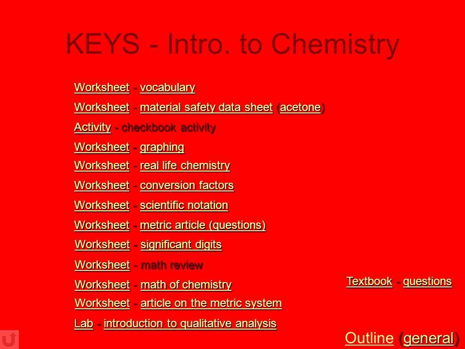 Printable Worksheets chemistry conversion worksheets : Chemistry Worksheets (with PowerPoint Presentations) - ppt download