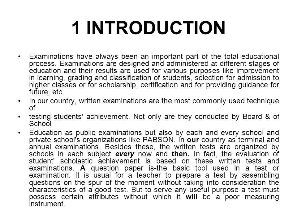 Guidelines for setting a good question paper ppt download 3 1 introduction examinations malvernweather Choice Image