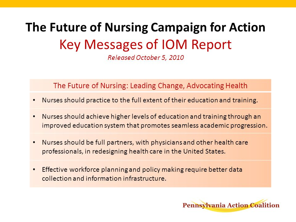 nursing vision for the future