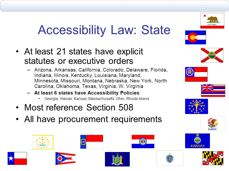 Accessibility Law: State