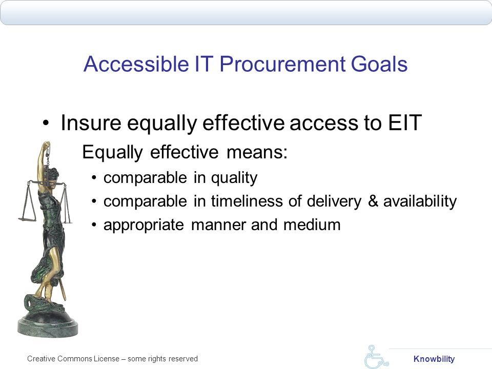 Accessible IT Procurement Goals