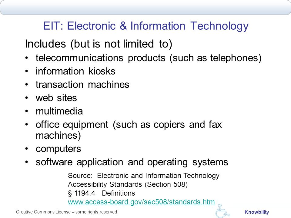 EIT: Electronic & Information Technology