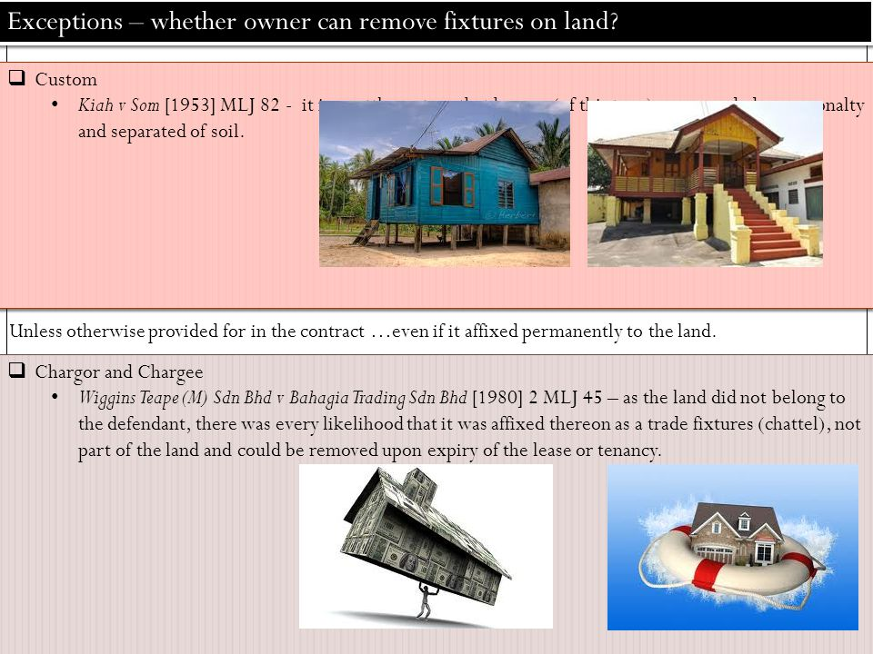 land law fixtures and chattels