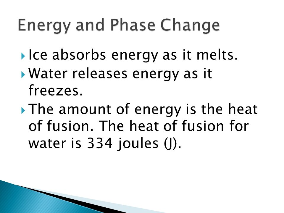 Energy and Phase Change