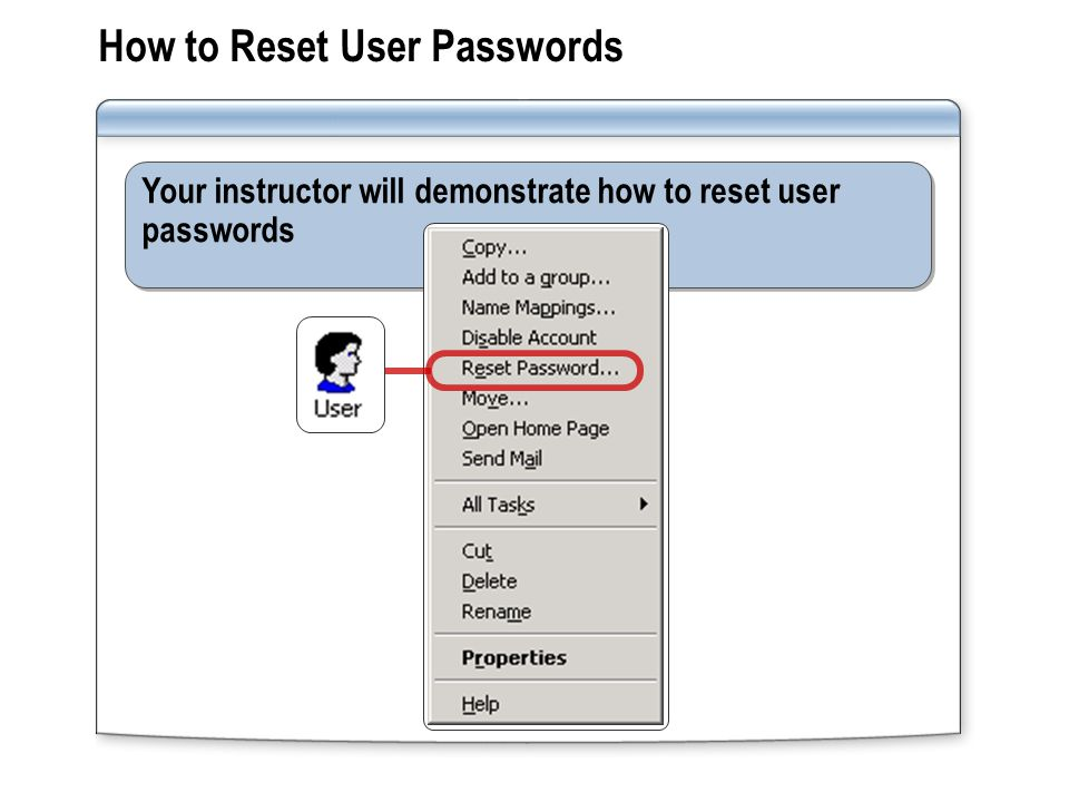How to Reset User Passwords