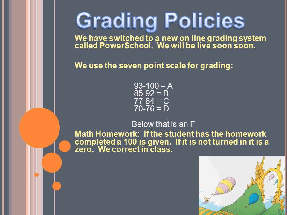 Grading Policies We have switched to a new on line grading system called PowerSchool. We will be live soon soon.