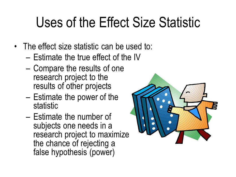 Uses of the Effect Size Statistic