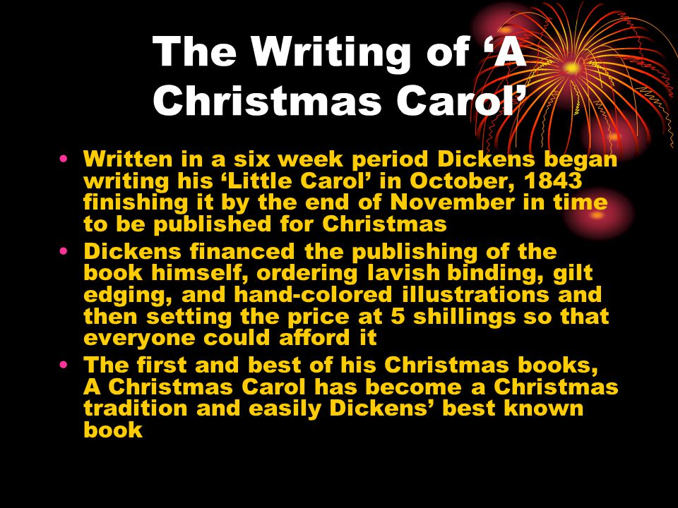 the writing of a christmas carol - When Was A Christmas Carol Written