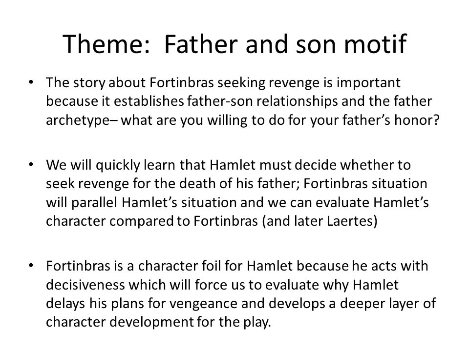 Hamlet Learning Objective Students Will Understand The Development