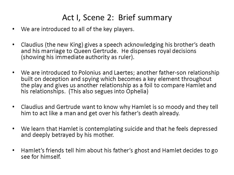what does hamlet learn from the ghosts speech