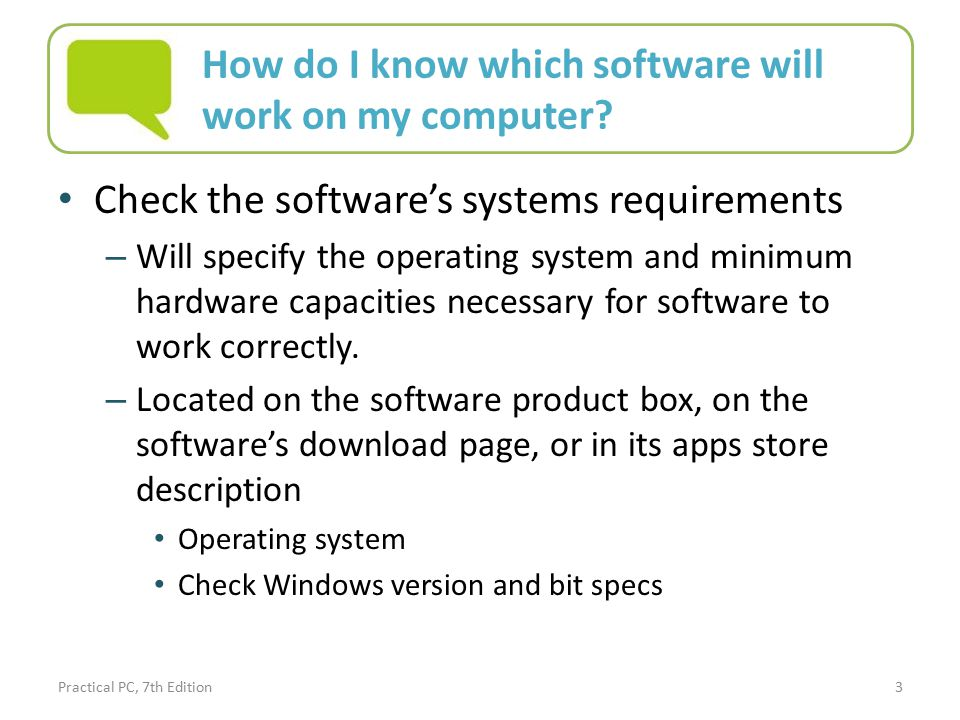 Practical PC, 7th Edition Chapter 3: Getting Started with Software