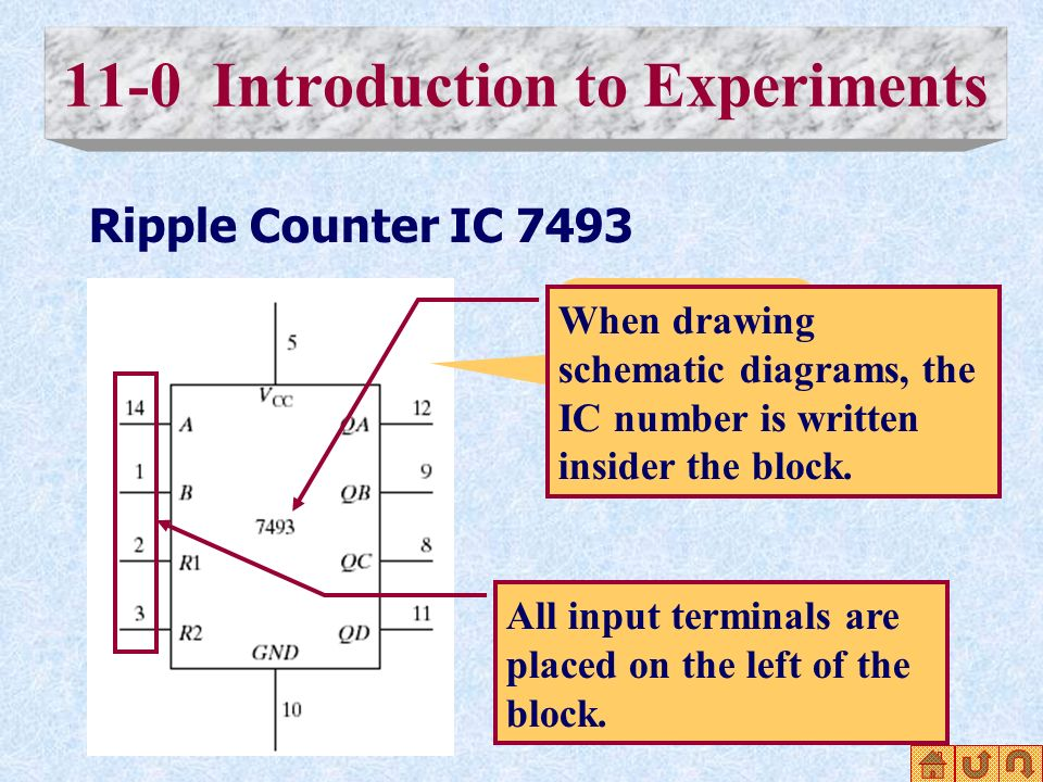 10 11-0 introduction to experiments ripple counter ic 7493 schematic diagram