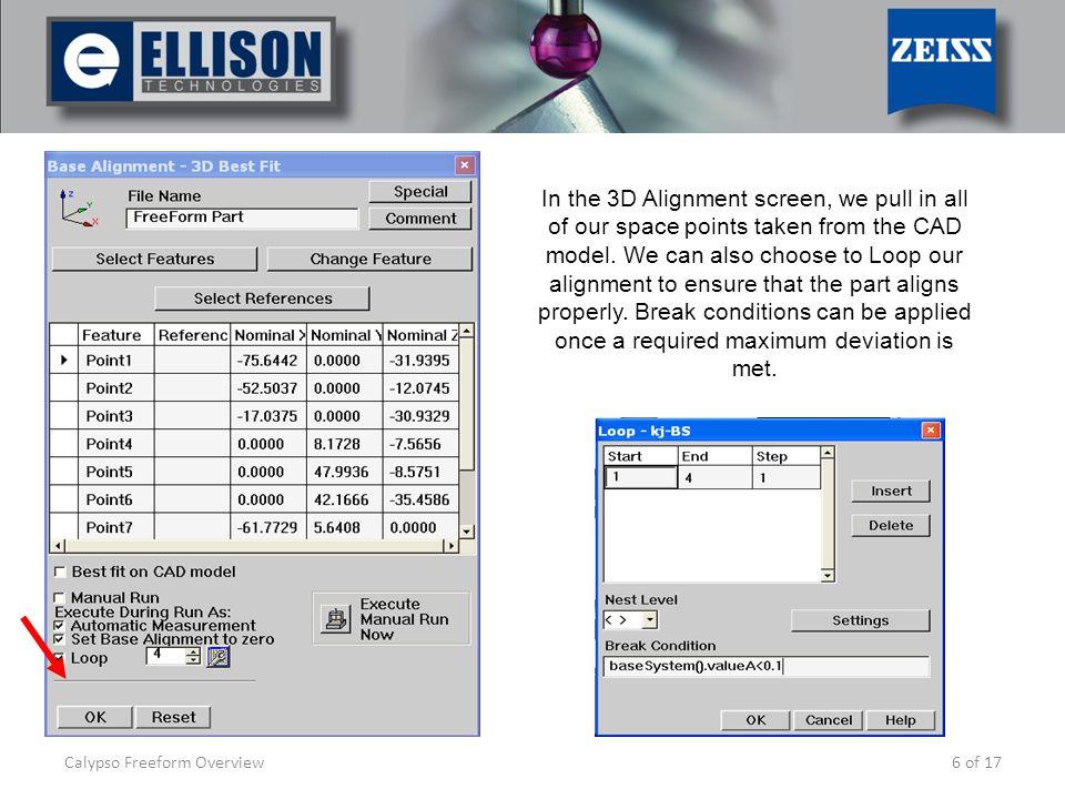 calypso freeform overview ppt video online download rh slideplayer com Calypso Software Tips Zeiss Calypso Training Manual