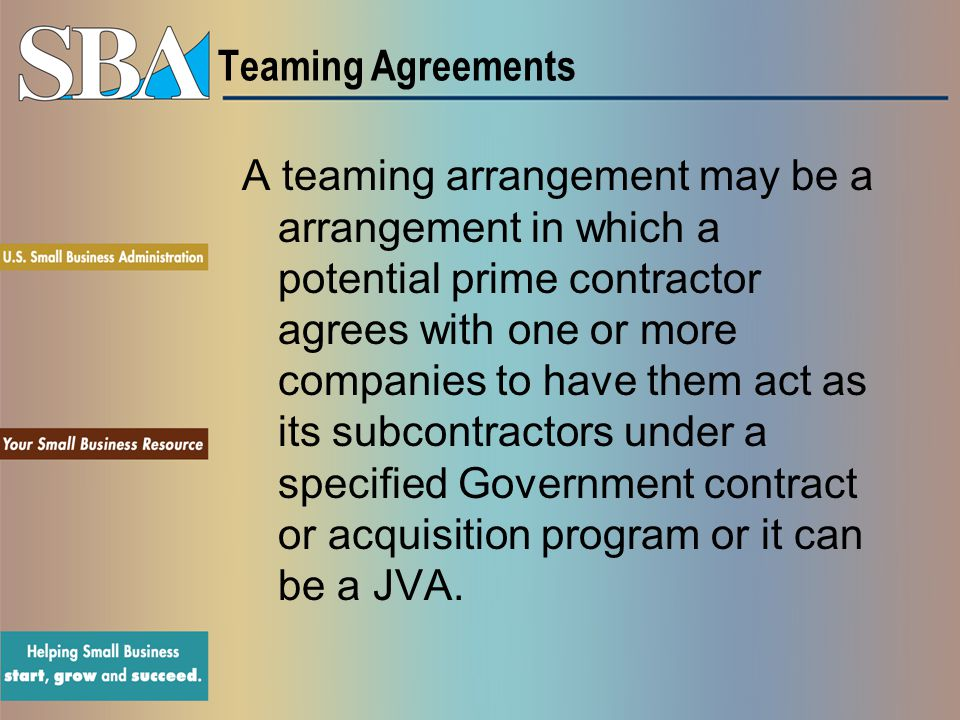 Teaming Agreements