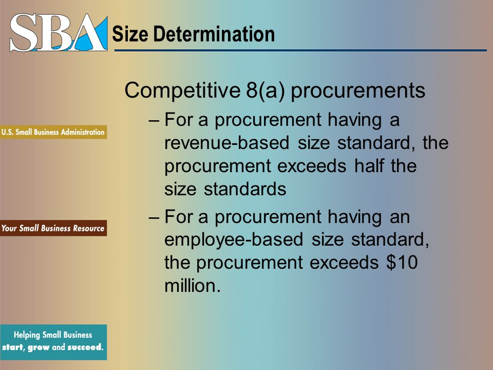 Competitive 8(a) procurements