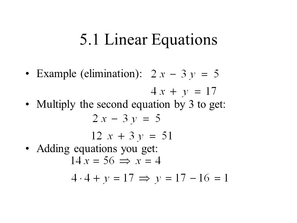 5.1 linear equations a linear equation in one variable can be