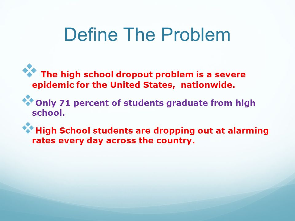 Dropping Out of High School - ppt download