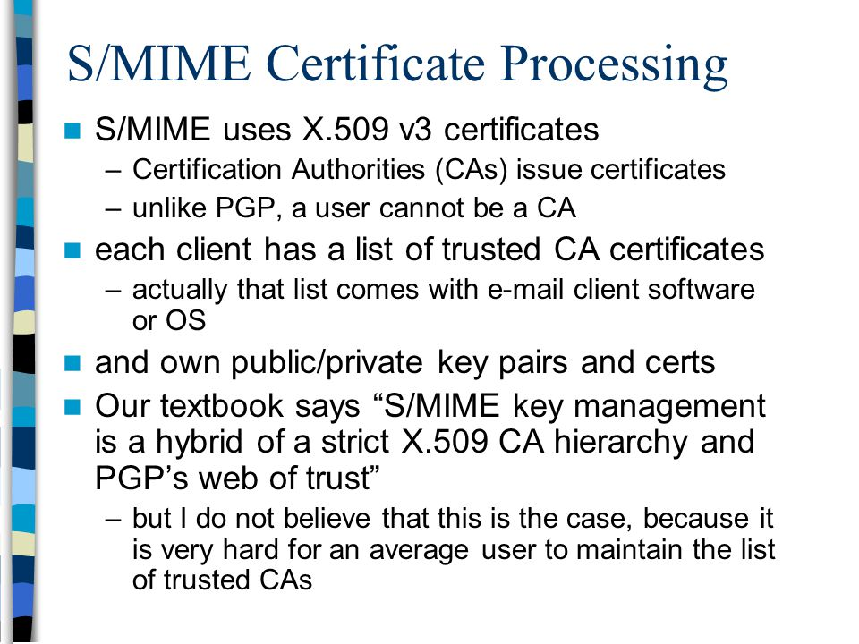 Security Pgp Smime Certificates And Pki Ppt Video Online Download