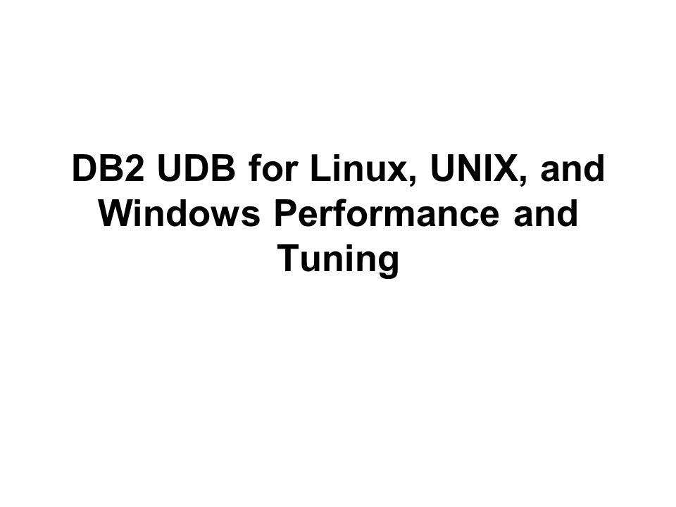 Db2 For Linux