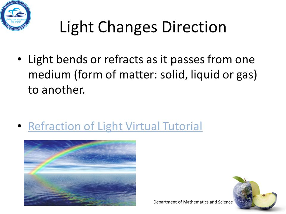 Light Changes Direction