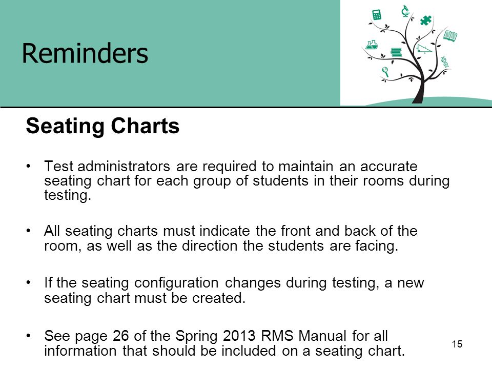 Reminders Seating Charts
