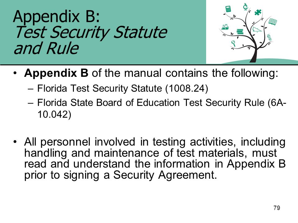 Appendix B: Test Security Statute and Rule
