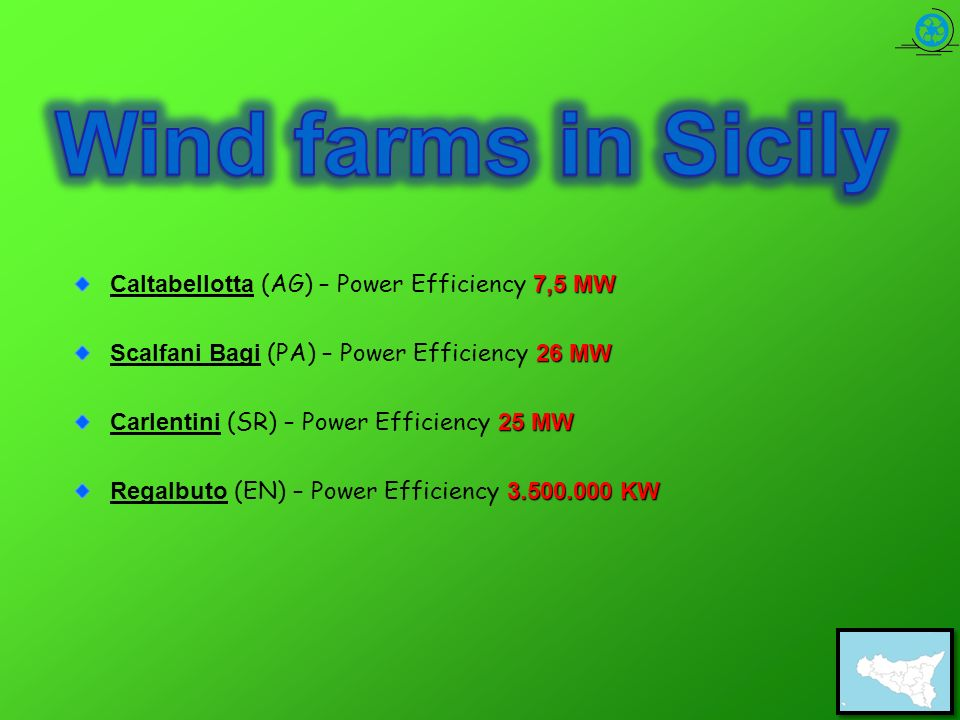 Wind farms in Sicily Caltabellotta (AG) – Power Efficiency 7,5 MW