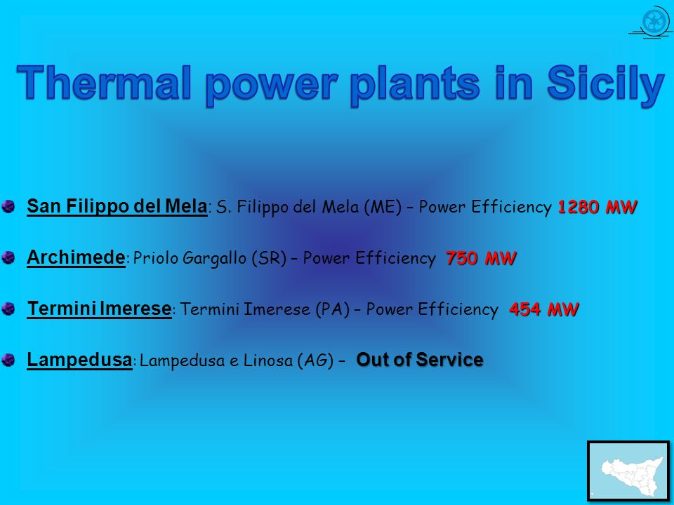 Thermal power plants in Sicily