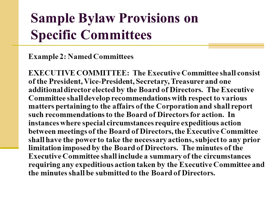 Bylaws and Board Governance October 16, ppt download
