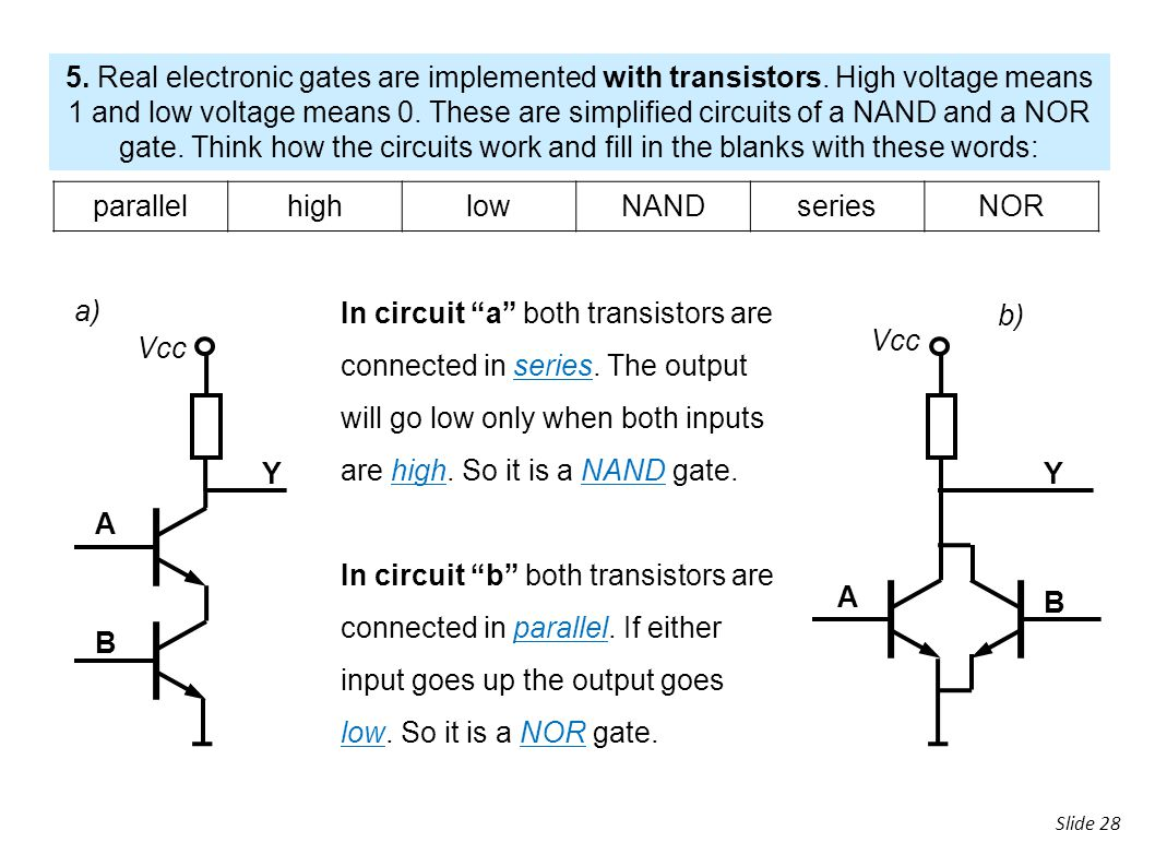 3 Digital Electronics Ppt Download Circuit With Transistors Real Electronic Gates Are Implemented