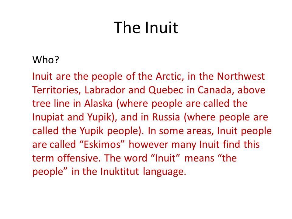 inuit adaptations to the cold