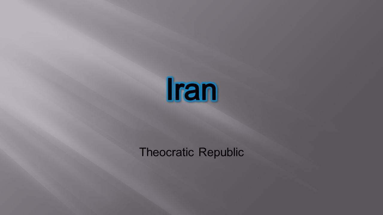 Iran Theocratic Republic