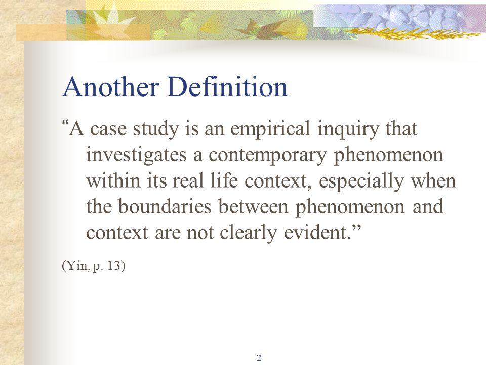 case study yin