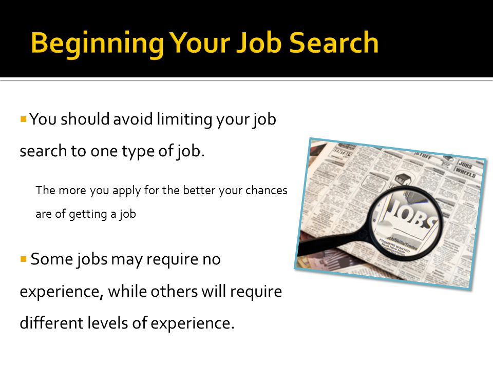 Beginning Your Job Search