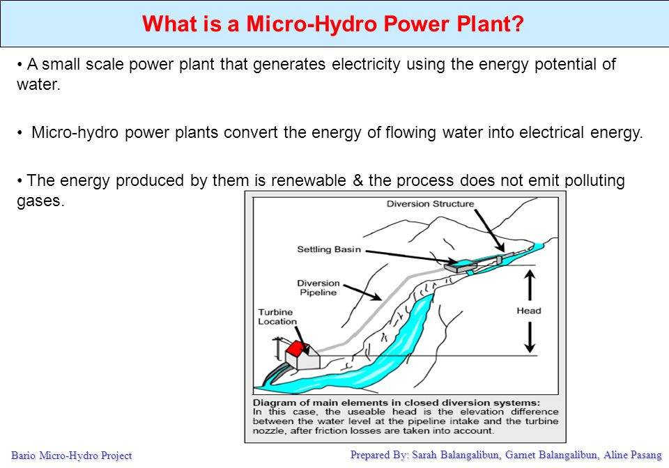 Outline Why are we doing this What is a Micro-Hydro Power Plant